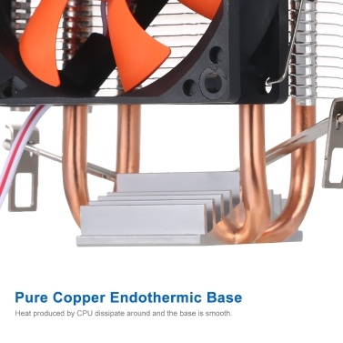 Hydraulische CPU-Kühler-Heatpipe-Lüfter Leiser Kühlkörper für Intel Core AMD Sempron Platform