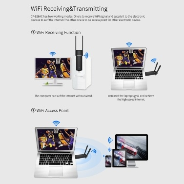 COMFSAT Wireless Network Card 1200Mbps Dual Band Wireless Adapter 2.4G 5G WiFi Router USB Adapter Card for Computer