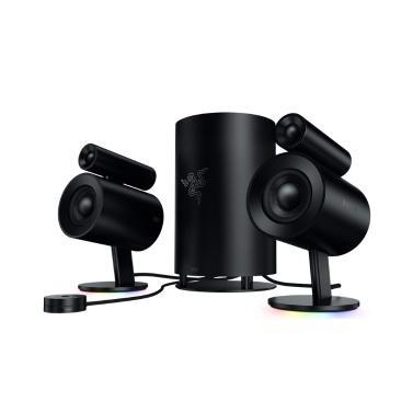 Razer Nommo Pro 2.1 Gaming-Lautsprecher THX-zertifiziertes Premium-Audio Dolby Virtual Surround Sound 7-Zoll-Subwoofer-Chroma-Lichteffekt