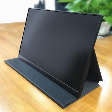 Tragbarer Monitor Laptop Smart Case Schutzhülle Standhalter mit Aufkleber Einfaches Tragen mit Lautsprecherloch für 12,5-Zoll-Monitor