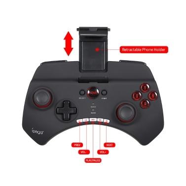 Ipega PG-9025 BT Wireless Game Controller Gamepad Joystick Remote Wiederaufladbares Joypad mit Clip für Smartphone Tablet Pad