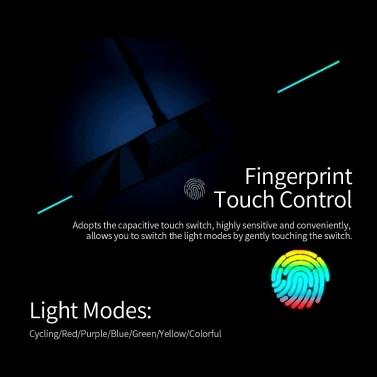 Motospeed P98 RGB-Mauspad 350 * 250 * 3,5 mm kapazitiver Berührungsschalter USB-verdrahtete LED RGB Bunte Beleuchtung Gaming Mousepad Mauspad Mäusematte für Laptop-Computer