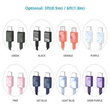 USB C zu USB C 5V 3A Schnellladekabel iFory USB C Kabel Typ C zu Typ C Ladekabel Nylon geflochtenes Kabel