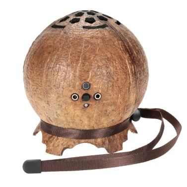 Ultra Portable Mini Wireless Coconut Shell BT 4.0 Speaker Super Bass Stereo Audio Music Player Hands-free Calls Built-in Microphone Mic