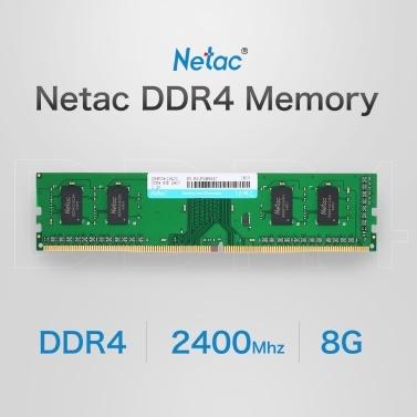 Netac DDR4 Memory 8GB 2400MHz MT/s 1.2V PC4-19200 UDIMM 288-pin for Desktop