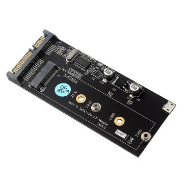 NGFF SATA/USB2.0 Adapter Card Fit 2230 2242 2260 2280 SSD B-key/B+M-key Converter Card SSD USB Cable