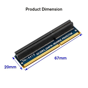 SO DDR3 204PIN Memory Test Protection Adapter Card Vertical Reverse TN-4413 Adapter Card for Laptop