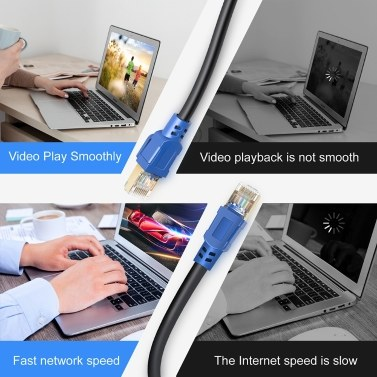 High Quality 2000MHz 40Gbps Fast Transmission Stability CAT8 Pure Copper Laptop Network Cable