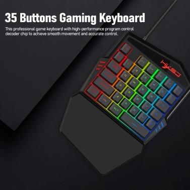 35 Tasten Gaming-Tastatur Mechanische Tastatur Hintergrundbeleuchtung Gaming-Tastatur Mobiltelefone Spielzubehör