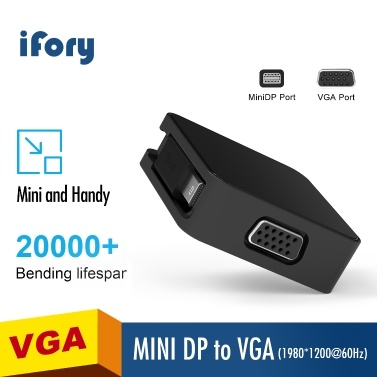 iFory-Adapter USB C / MiniDP mit HD-MI / VGA-Display-Projektor Kompatibel mit tragbaren Computertelefonen