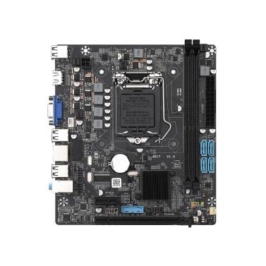 H55M Motherboard Dual DDR3 Memory Slots PCI-E 8X Graphics Slot VGA+HD Ports Support LGA1156(Core i7/i5/i3) Processor
