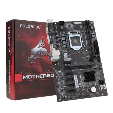 Bunte C.H81A-BTC V20 Motherboard Systemboard für Intel H81 / LGA1150 Socket Prozessor DDR3 SATA3.0 ATX Mainboard für Miner Mining Desktop