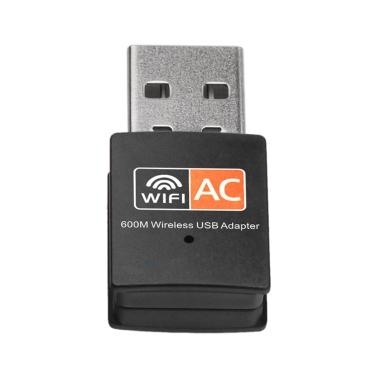 Dual Band 600 Mbps 2,4 GHz + 5 GHz USB Wireless Adapter Wifi Antenne 802.11a / b / g / n / ac WiFi USB Adapter für MAC Windows Schwarz