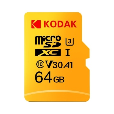 Kodak Micro SD-Karte 128 GB TF-Karte U3 A1 V30 Speicherkarte 100 MB / s Lesegeschwindigkeit 4K-Videoaufnahme