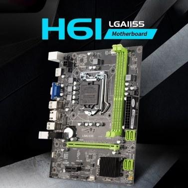 Jingsha H61 Motherboard M-ATX LGA1155 DDR3 Mainboard Core i5 3330 CPU