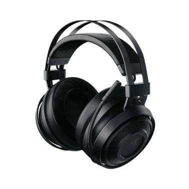 Razer Nari Essential kabelloses Gaming-Headset Kopfhörer Kopfhörer THX Spatial Audio Cooling Gel-infundierte Kissen 2,4 GHz kabelloses Audio 7.1 Surround Sound Flip Mic für PC, PS4, Mac USB Transceiver
