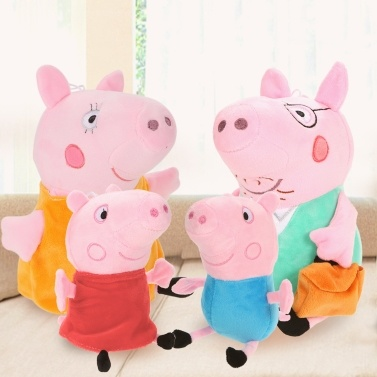 61% OFF 4Pcs Peppa Pig Family Plush Doll 30Cm Daddy Mummy 20Cm Peppa George,limited offer $13.99