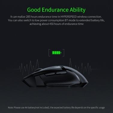 Razer Basilisk X HyperSpeed Wireless Gaming Mouse Wireless Dual Mode Gaming Mouse with 5G Optical Sensor Ultra-long Battery Life