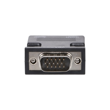 HD Female to VGA Male Adapter Support HD 1080P Video Signal Transmission with Audio Port for Monitor Projector TV PC Laptop