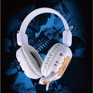 Professional verkabelt Gaming Kopfhörer Ohrhörer Over Ear mit Mikrofon für PC Computer
