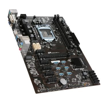 Bunte C.B250A-BTC V20 Motherboard Systemboard für Intel B250 / LGA1151 Socket Prozessor DDR4 SATA3 USB3.0 ATX Mainboard für Bergbau Bergbau Desktop
