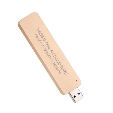 NGFF M.2 USB 3.0 SSD Enclosure Adapter Storage Case M2 SATA-Based B Key SSD Applicable 2230 / 2242 / 2260 / 2280 mm