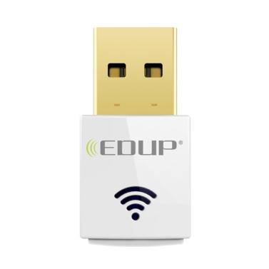 EDUP Mini 2.4G 5.8G 600 Mbps WiFi Adapter Wireless Dual Band USB Netzwerkkarte Adapter IEEE 802.11AC Weiß