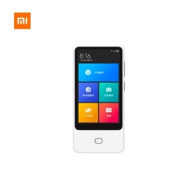 Xiaomi Mijia AI Voice Translator Recorder 1 + 8GB 18 idiomas Tela sensível ao toque de 4,1 polegadas 6 Microfone Câmera online Photo Translator 3 maneiras de navegar na Internet Branco