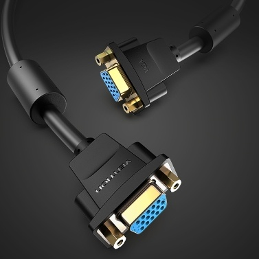 Vention DAHBF VGA Extension Cable Female to Female 1080P Gold-Plated Extender Cable Wire 1m for Projector PC Monitors TV