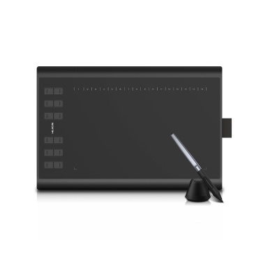 Huion H1060P Graphic Drawing Tablet Micro USB 12 Express Keys Digital Painting Battery-Free Passive Pen