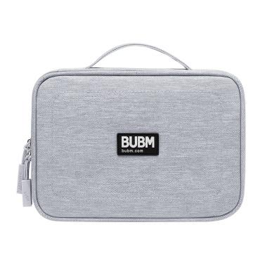 BUBM DPSS-PVC-hui Multifunctional Hand Storage Bag Large Capacity Portable Digital Accessories Bag Tablet/Phone/USB Cable/U Disk