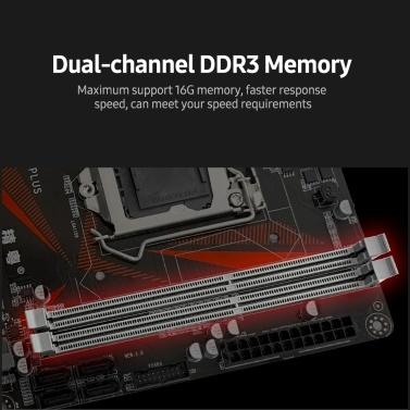 JGINYUE B85M-VH PLUS Gaming Motherboard with Dual DDR3 Memory Slots 4 SATA3.0 Ports Support Intel LGA1150 Series Processors