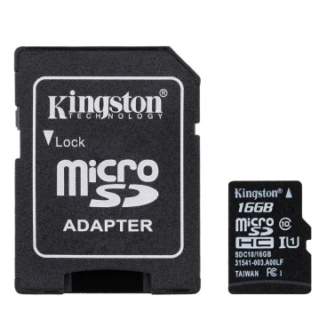 Kingston Class 10 8GB 16GB 32GB 64 GB MicroSD TF Flash Memory Card 48MB/s maximale Geschwindigkeit mit Kartenadapter