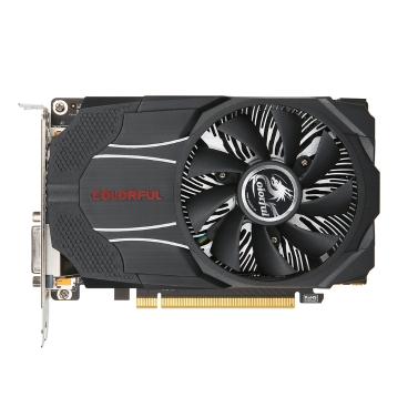 Bunte NVIDIA GeForce GTX1060 Mini OC 3G Grafikkarte 1531/1746 MHz 8 Gbit / s GDDR5 192 Bit PCI-E 3.0 mit HDMI DP DVI-D Port