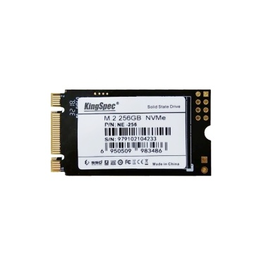KingSpec 256 GB 2242 PCIe 3.0 NVMe M.2 3D-NAND-SSD Solid-State-Laufwerk - Interne SSD (NE-256)