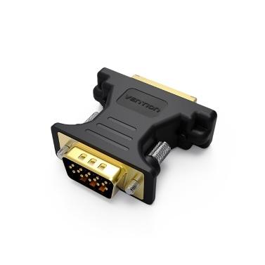 VENTION DVI-zu-VGA-Adapter DVI 24 + 5-Buchse auf VGA-Stecker für PC-Grafikkarten-Displayer-Projektor