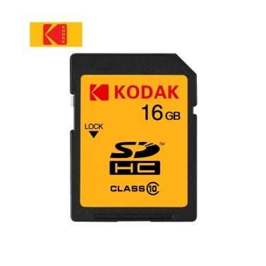 SD-карта Kodak U1 Высокоскоростная карта памяти 16 ГБ, 85 МБ / с, карта памяти класса 10, цифровая зеркальная фотокамера