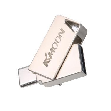 Kkmoon usb flash drive usb3.0 tipo-c mini portátil u disco 16 gb pendrives pen drive de prata para o telefone pc portátil