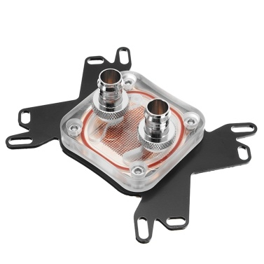 Water Cooling Computer CPU Block Head Copper Base Replacement for INTEL CPU Block