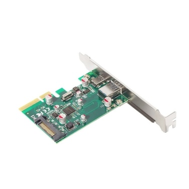 PCI-E to USB 3.1 Type A + Type C Expansion Card 10Gbps Converter Adapter Card For Desktop PC