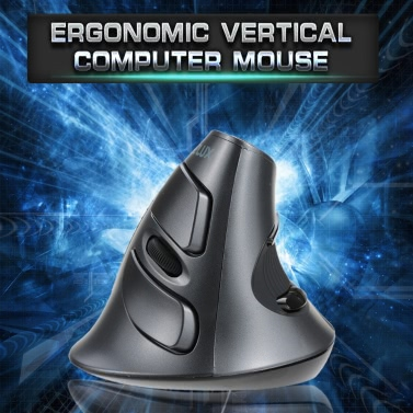 Delux 2.4G Wireless Ergonomic Vertical Optical Mouse Computer Mice Adjustable 1600 DPI 5D Buttons with Removable Palm Rest
