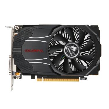 Bunte NVIDIA GeForce GTX1060 Mini OC 6G Grafikkarte 1531/1746 MHz 8 Gbps GDDR5 192 Bit PCI-E 3.0 mit HDMI DP DVI-D Port