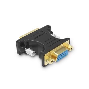 VENTION DVI zu VGA Adapter DVI 24 + 5 Stecker auf VGA Buchse Konverter 1080P HD Vergoldeter Adapter für PC Displayer Projektor