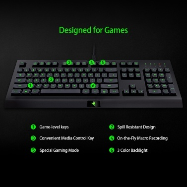 Razer Cynosa Pro Tastatur + Razer DeathAdder 2000 Maus Combo Kit Gaming Set 3-Farben-Hintergrundbeleuchtung Makroaufnahme