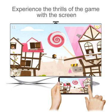 MiraScreen WiFi Display Receiver 1080P Audio & Video DLNA Airplay Miracast Display Dongle + DIY Tri Fidget Spinner