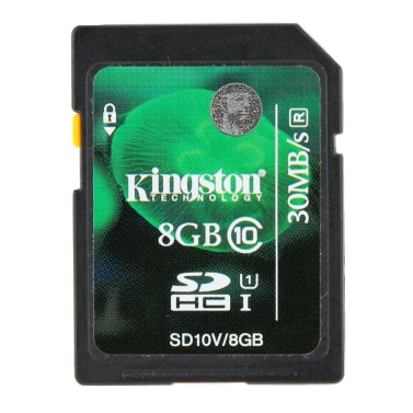 Original Original Kingston Class 10 8GB SDHC Speicherkarte 45M / s für Handy-Kamera HD Video