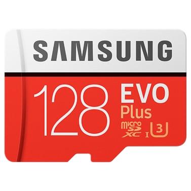 Samsung Speicher 128 GB EVO Plus MicroSDXC 100 MB / s UHS-I (U3) Klasse 10 TF Flash-Speicherkarte