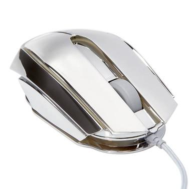 E-3LUE optisches 2400DPI justierbares USB verdrahtete Computer-Spielmaus mit 7 Farben-LED-Hintergrundbeleuchtung EMS617 Spiel-Mäusen
