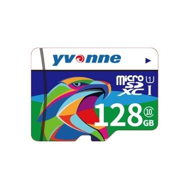 yvonne Micro SDHC TF Flash-Speicherkarte Datenspeicher 128 GB Schnelle Geschwindigkeit