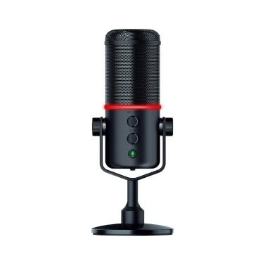 Razer Seiren Elite Mikrofon Einzelne dynamische Kapsel Eingebauter Hochpassfilter Digital- / Analogbegrenzer Nierencharakteristik USB Plug-and-Play mit Mikrofon-Windschutz